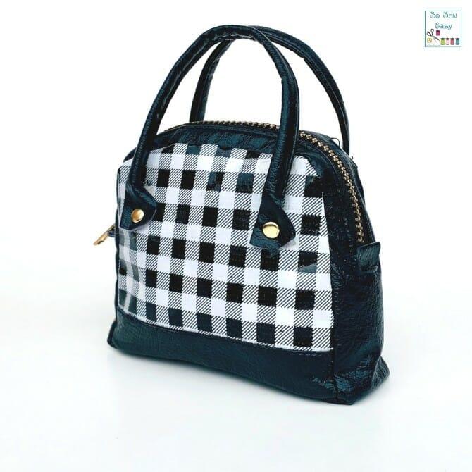 mini purse free sewing pattern using fabric scraps