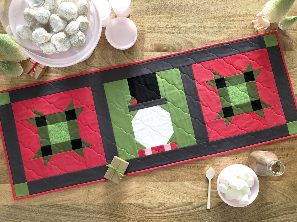 Mister Frosty Holiday Table Runner Pattern