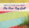 One Hour Rag Quilt Free Pattern and Tutorial. Easy to sew for beginner quilters.