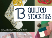 Free Quilted Stocking Tutorials easy to sew and DIY for holiday decor