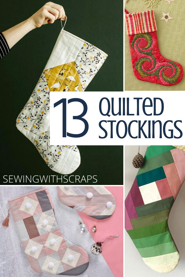 Free Quilted Stocking Tutorials easy to sew and DIY