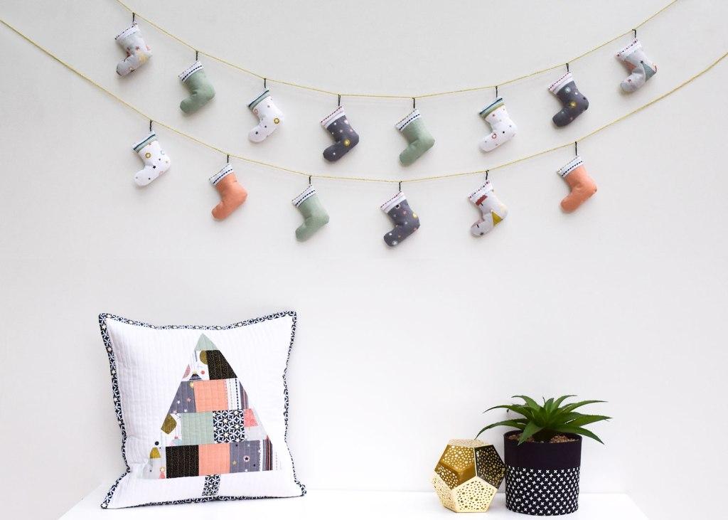 DIY holiday party garland