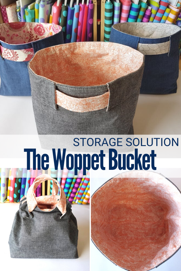 The Woppet Bucket storage bucket and bag