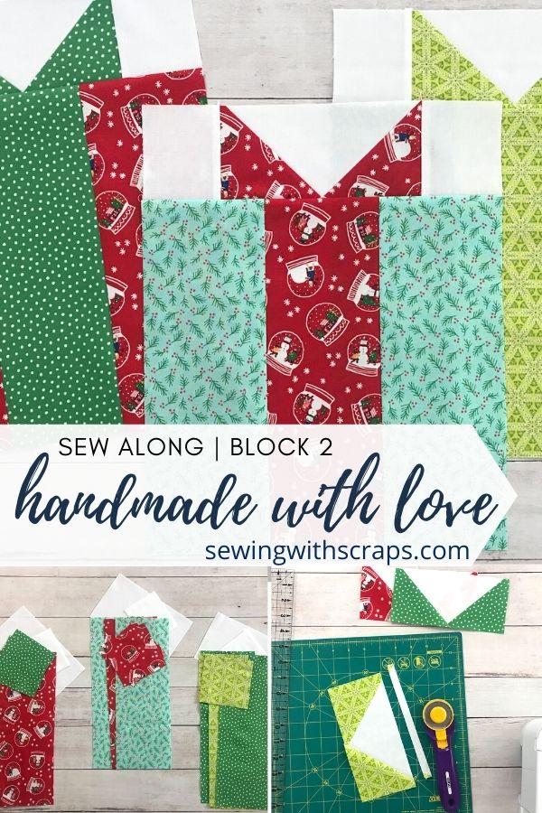 Stripe Presents Quilt Block | Handmade with Love Sew Along Block 2.