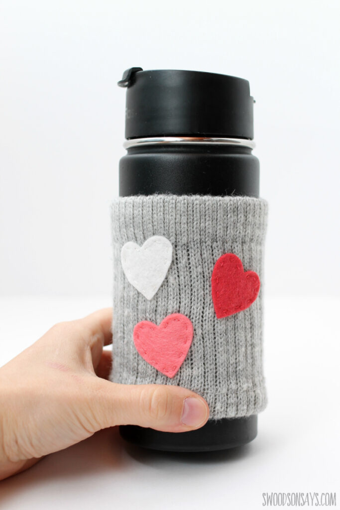 DIY coffee cozy sewing tutorial