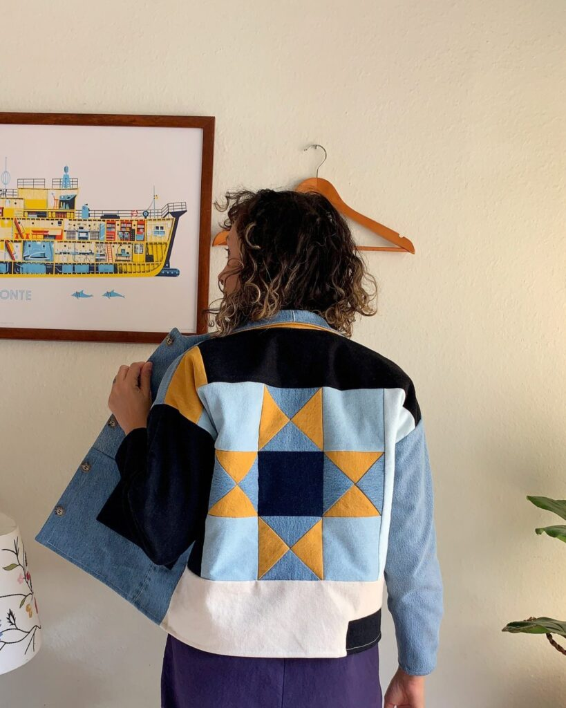 Patchwork Denim Jacket by the Mindful Sewist