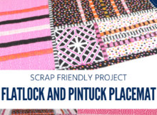 Use a serger in quilting. Patchwork Placemat tutorial with decorative stitches.