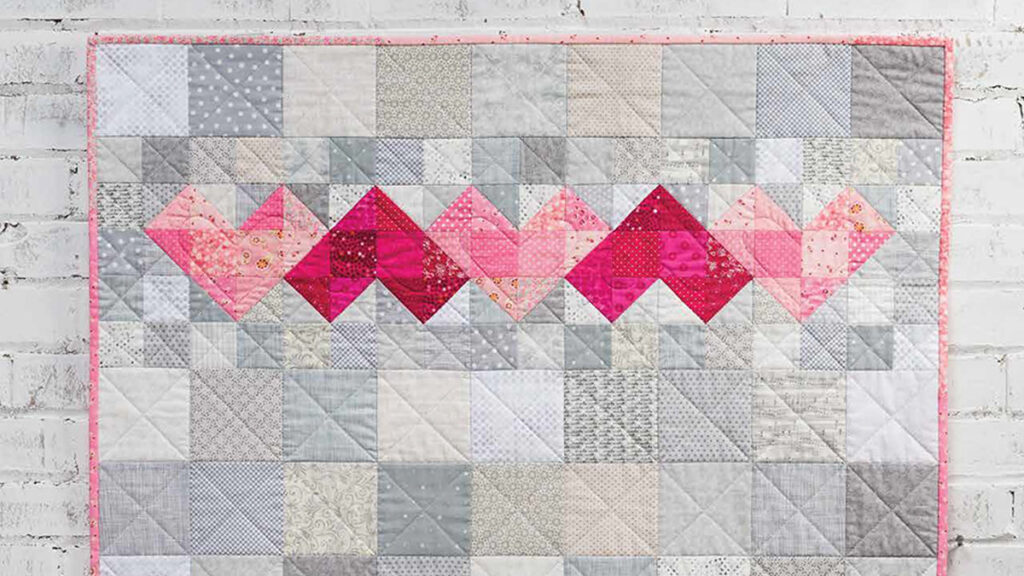 scrappy heart quilt pattern and video class