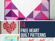 14 Free Heart Themed Quilt Patterns