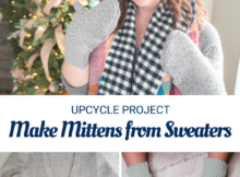 Easy Upcycle - Make Mittens from Thrifted Sweaters. Thrift store find.