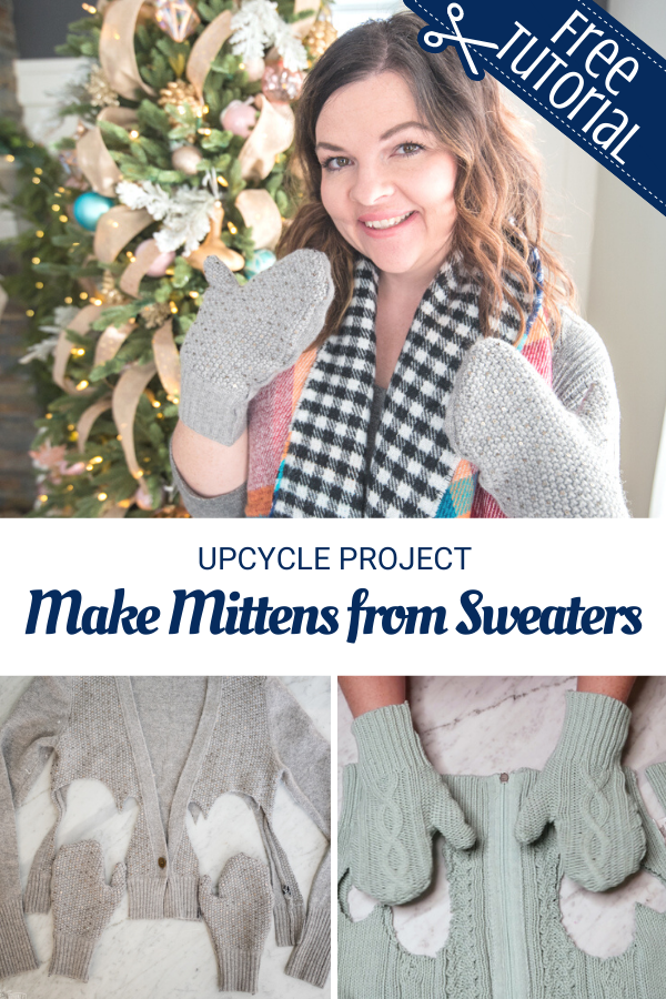 Mitten Sewing Tutorial from old sweaters