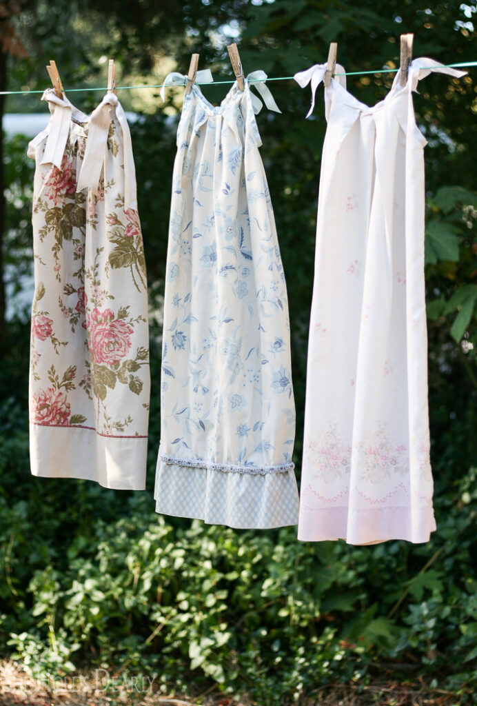 DIY Upcycle Nightgown from a pillowcase