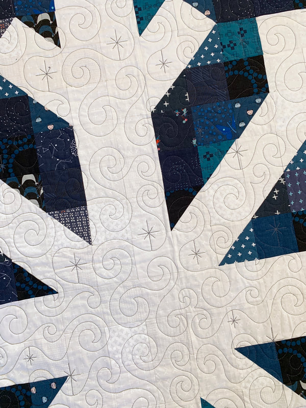 Modern Snowflake Quilt Pattern