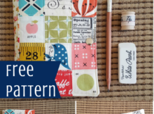 Stationary Kit Free Sewing Tutorial perfect for scraps