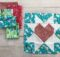 Fabric Pull Star & Heart Present Block