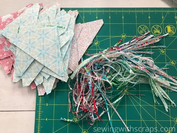 Half Square Triangle Present Block | Handmade with Love sewing along