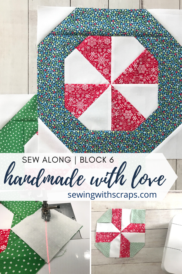 Come join the fun as we make block 6 in the Handmade with Love quilt along, the Peppermint Present Quilt Block