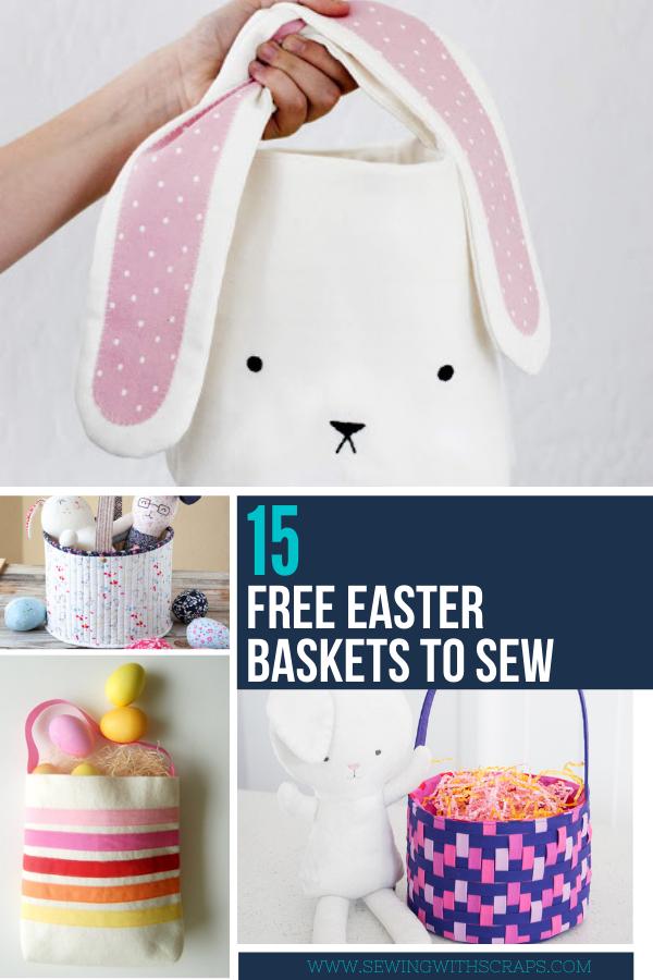 15 Free Easter Basket Sewing Tutorials