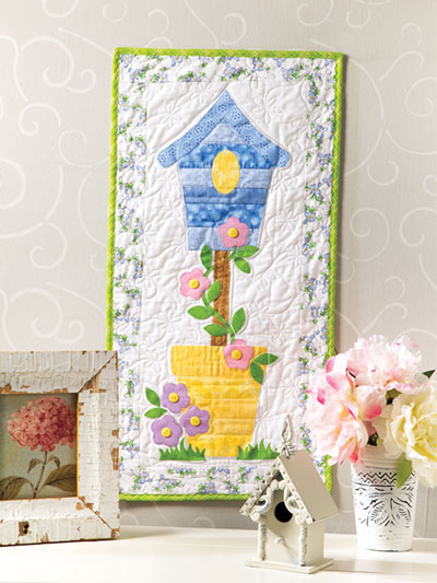 Birdhouse Mini Quilt Wall Hanging Video Class