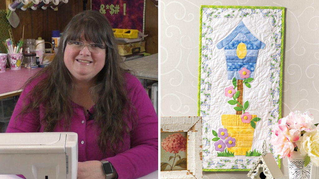 Birdhouse Quilt Wall Hanging Sewing Pattern and Video Class