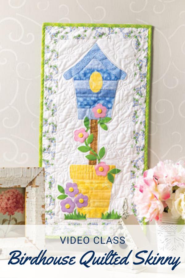 Springtime Birdhouse Mini Quilt Sewing Pattern