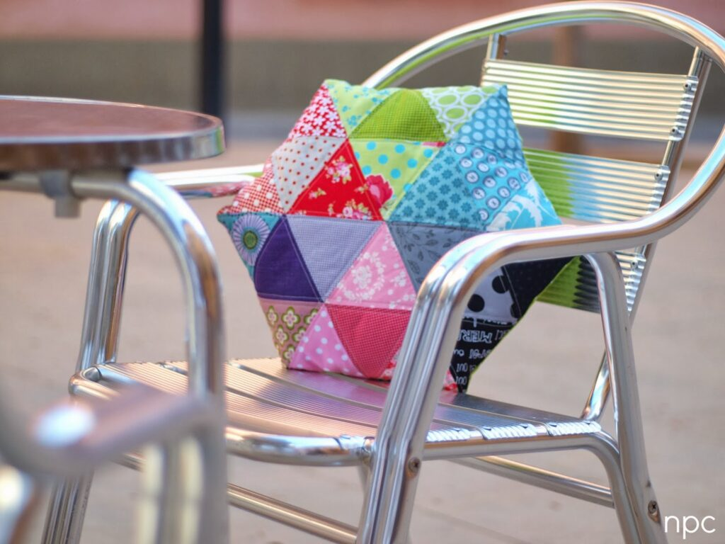 Triangle Chair Pillow Free Sewing Pattern