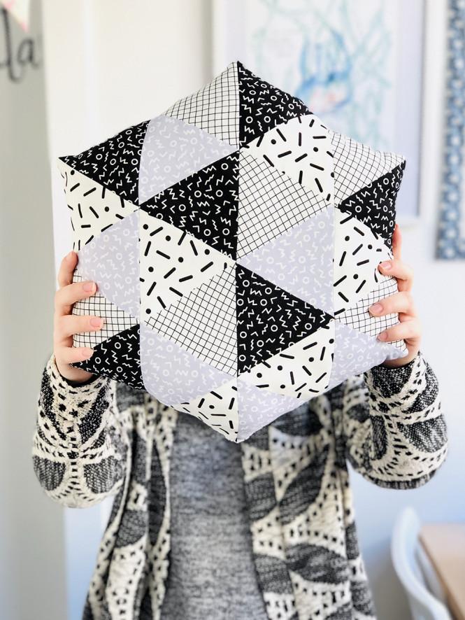 Scrappy Triangle Pillow Tutorial