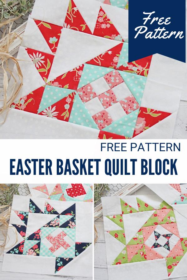 Free Easter Basket Quilt Block Sewing Pattern