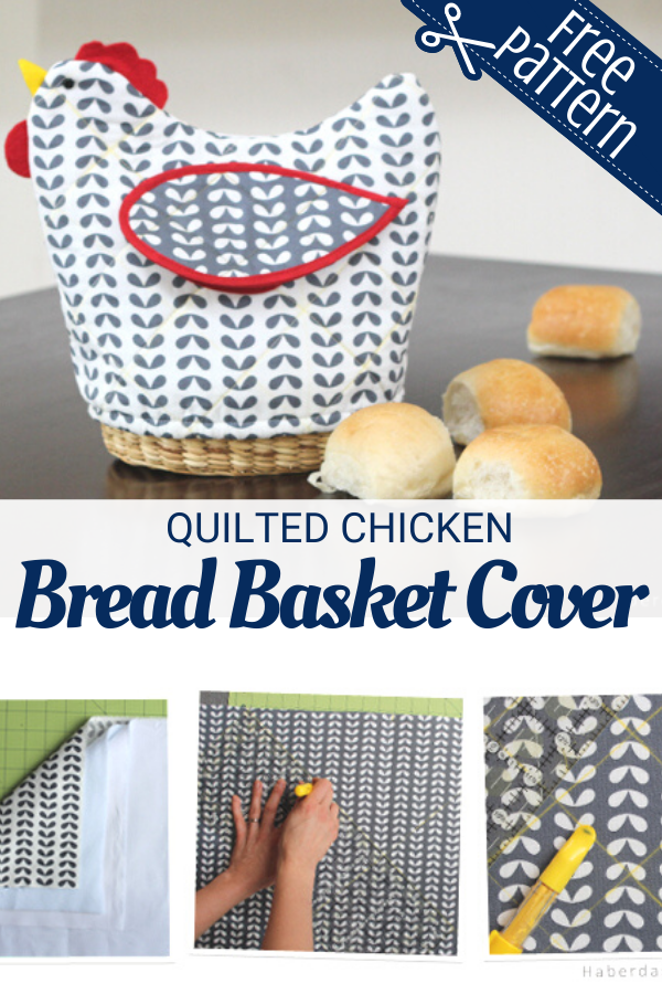 Easy to Sew Chicken Bread Basket Cover