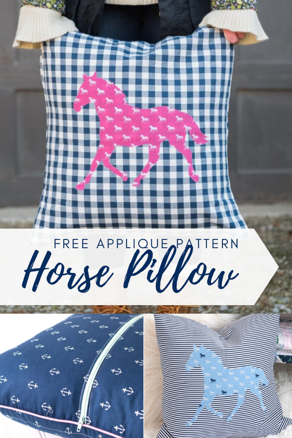 Free Horse Pillow Sewing Tutorial
