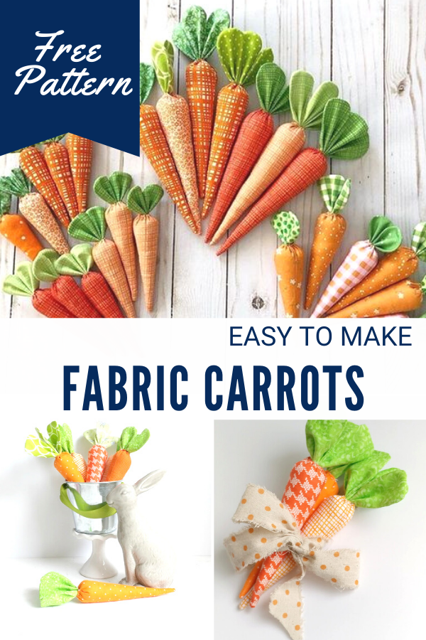 Easy to Sew Fabric Carrots
