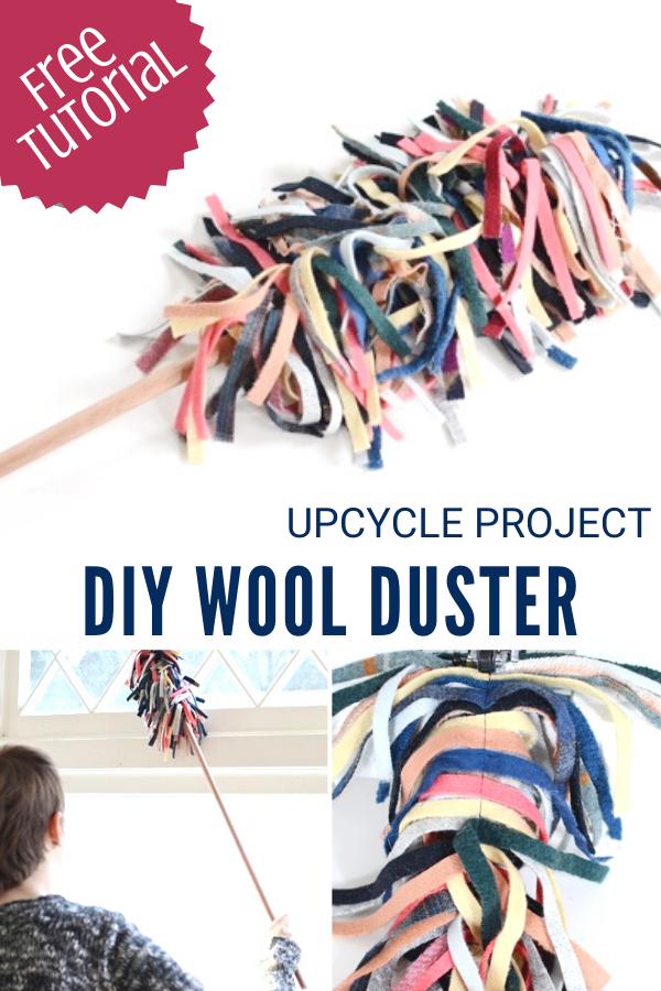 Upcycled Wool Duster Tutorial