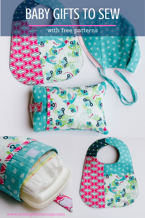 Easy to sew baby gifts with free patterns