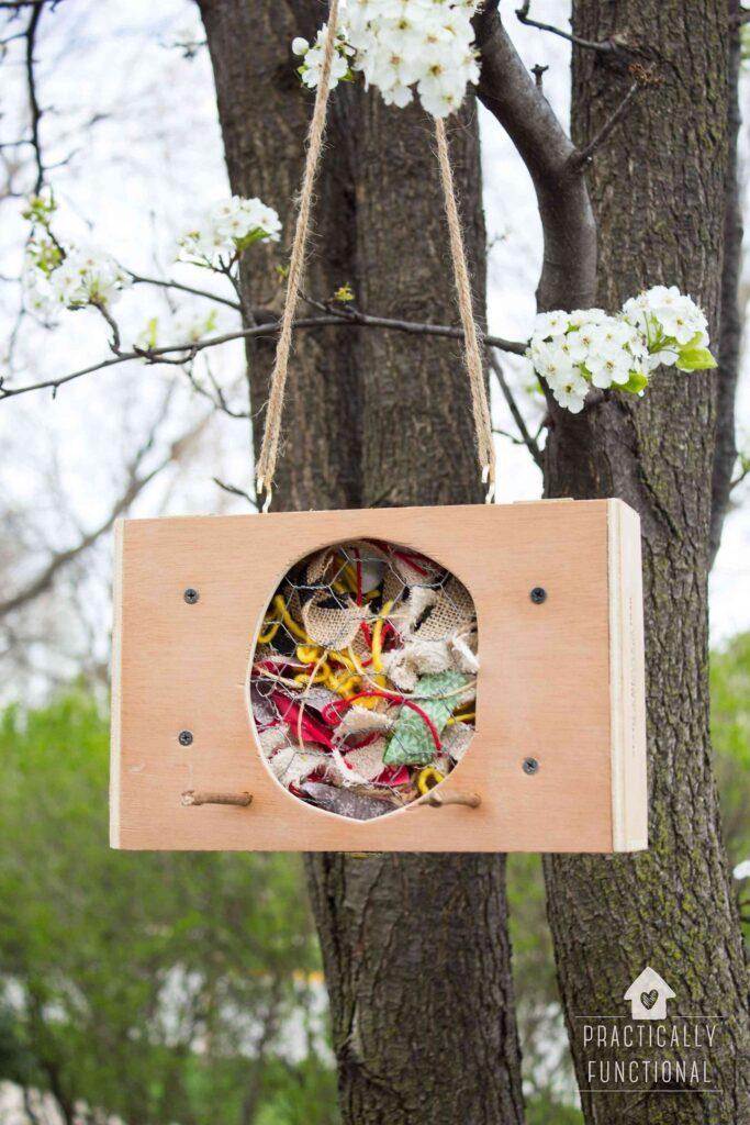 Fabric Scrap Bird Nesting Material Box