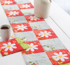 Video Sewing Class for a Daisy Table Runner and Placemats. Perfect for spring table decor.