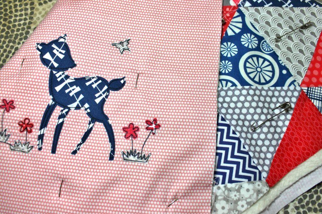 forest applique mini quilt