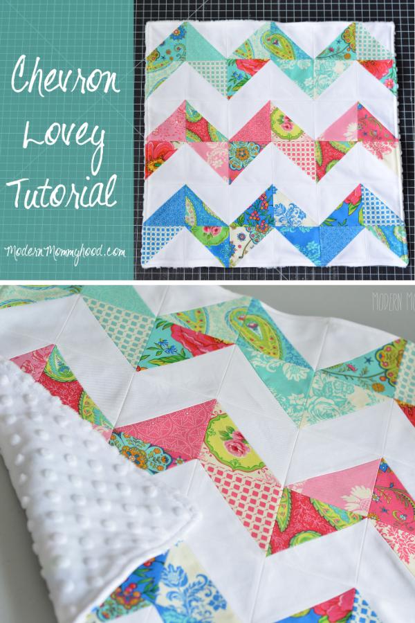 Chevron Lovey Tutorial. Baby Blanket free sewing pattern
