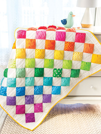Video Sewing Class - Rainbow Puffs Baby Quilt
