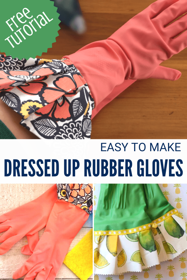 DIY Ruffled Rubber Gloves Sewing Tutorial