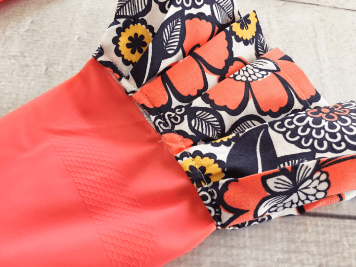 Scrap Busting Dressed Up Rubber Gloves Sewing Tutorial