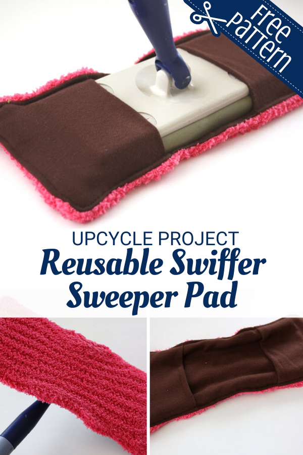 Upcycled Reusable Swiffer Sweeper Pad - Easy DIY Project