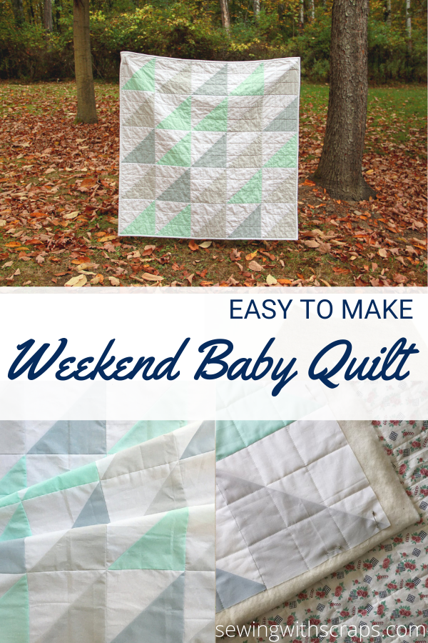Easy to sew weekend baby quilt pattern