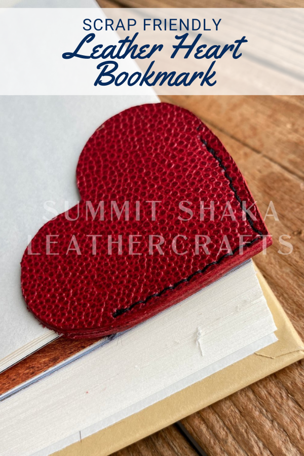 Leather Heart Bookmark Sewing Pattern