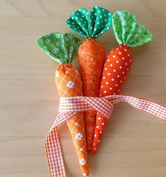 Scrappy Fabric Carrots