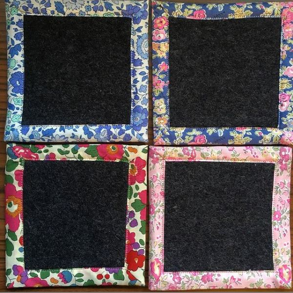 Easy to sew coaster tutorial perfect for scraps