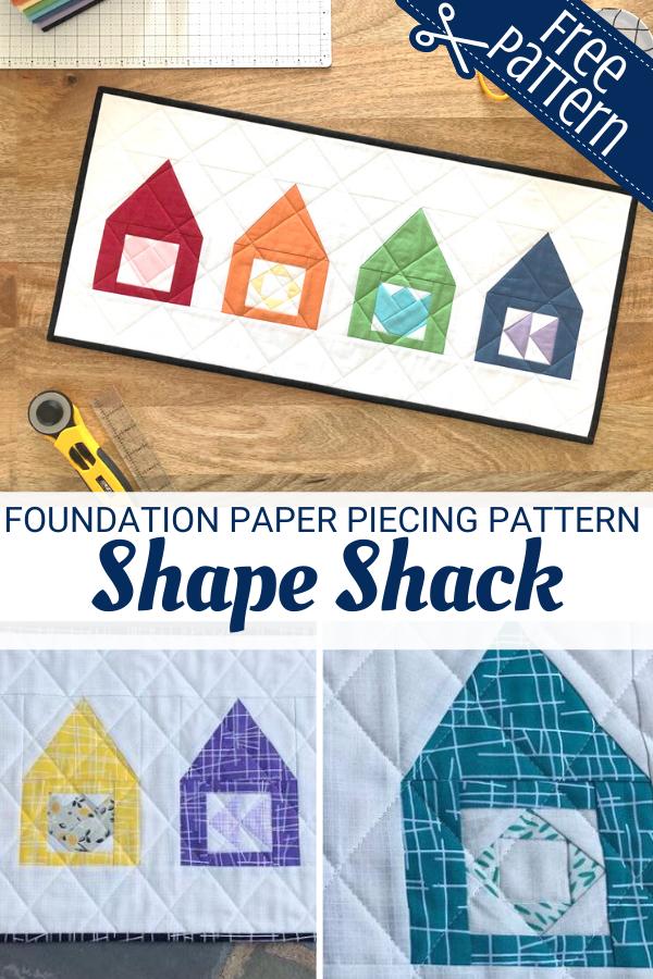 Free Shape Shack Foundation Paper Piecing Pattern