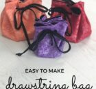 Easy to Sew Drawstring Bags