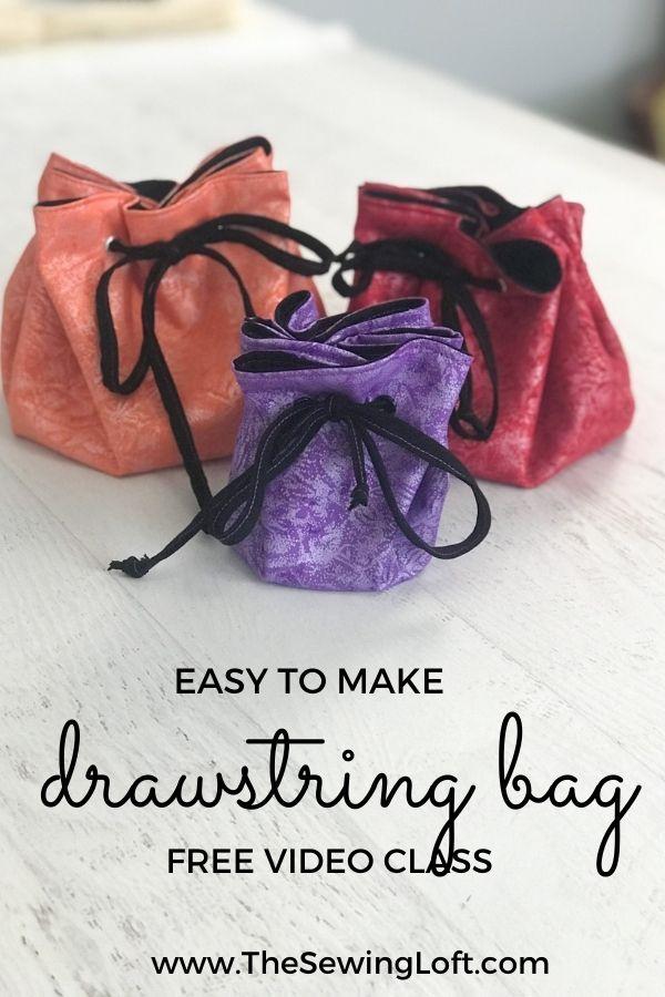 Easy to Make Drawstring Bags