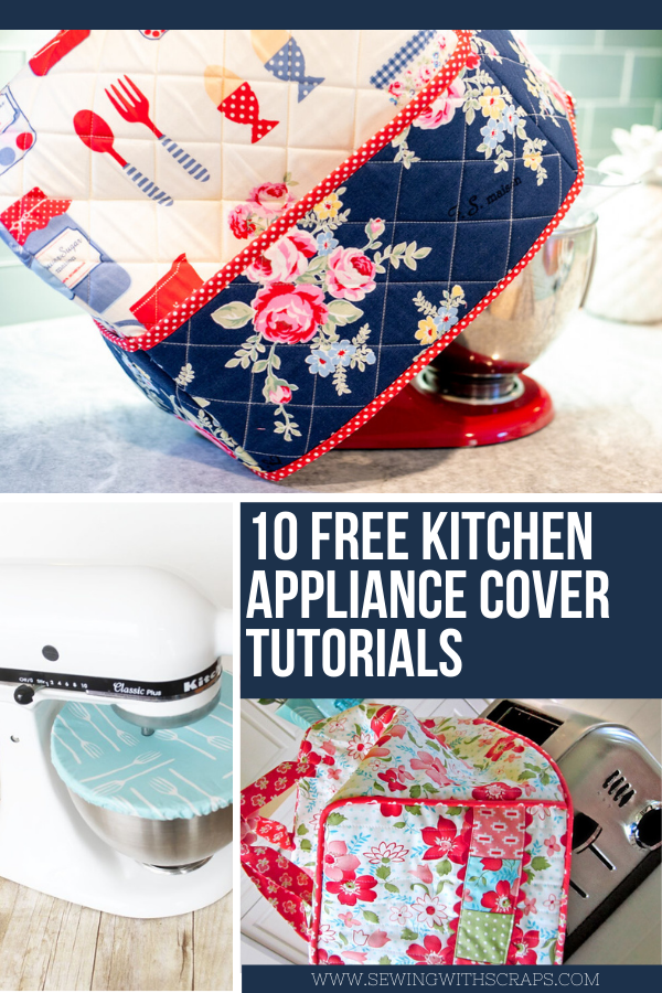 10 Free sewing patterns for kitchen appliance covers