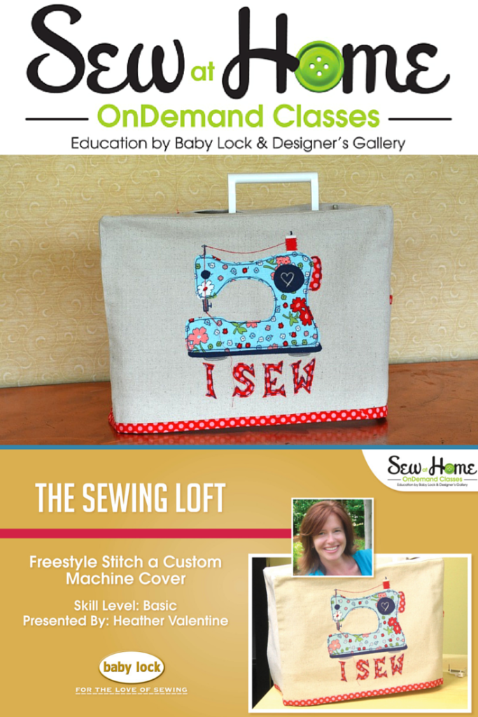 Free Sewing Machine Cover Video Class